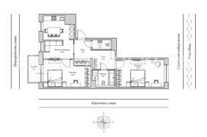 ЖК «Монополист», планировка 2-комнатной квартиры, 79.30 м²