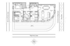 ЖК «Монополист», планировка 2-комнатной квартиры, 88.70 м²