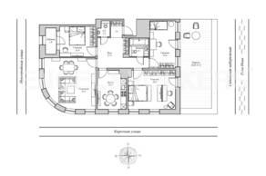 ЖК «Монополист», планировка 4-комнатной квартиры, 142.20 м²