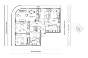 ЖК «Монополист», планировка 4-комнатной квартиры, 133.00 м²