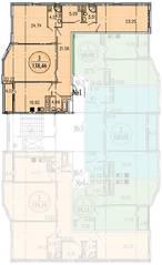 ЖК «Дубровка», планировка 3-комнатной квартиры, 146.30 м²