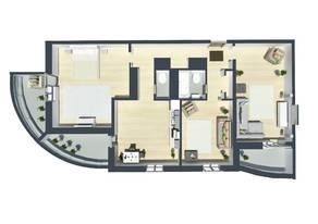 ЖК «Шуваловский Park», планировка 1-комнатной квартиры, 104.40 м²