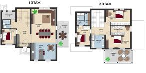 КП «Новая Романовка», планировка 5-комнатной квартиры, 234.40 м²