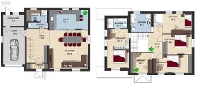КП «Новая Романовка», планировка 5-комнатной квартиры, 209.00 м²