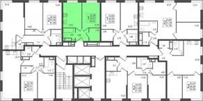 ЖК «TREND», планировка 1-комнатной квартиры, 36.81 м²