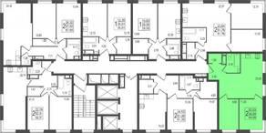 ЖК «TREND», планировка 2-комнатной квартиры, 54.99 м²