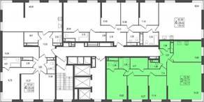 ЖК «TREND», планировка 4-комнатной квартиры, 116.77 м²