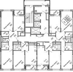 ЖК «Центральный» (Долгопрудный), планировка квартиры со свободной планировкой, 76.00 м²