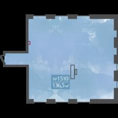 МФК «Aerolofts», планировка квартиры со свободной планировкой, 136.50 м²