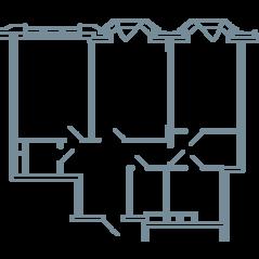 ЖК «Резиденция на Всеволожском», планировка квартиры со свободной планировкой, 104.60 м²