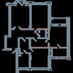 ЖК «Резиденция на Всеволожском», планировка квартиры со свободной планировкой, 144.70 м²
