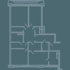 ЖК «Резиденция на Всеволожском», планировка квартиры со свободной планировкой, 155.20 м²