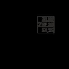 МФК «Nord», планировка 2-комнатной квартиры, 54.25 м²