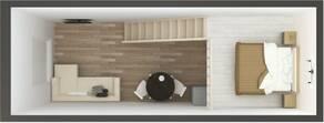 МЖК «в Привокзальном переулке», планировка студии, 31.80 м²