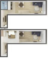 МЖК «в Привокзальном переулке», планировка студии, 45.60 м²