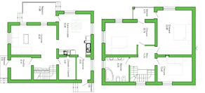 КП «Лесной уют», планировка 4-комнатной квартиры, 160.00 м²