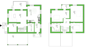 КП «Лесной уют», планировка 4-комнатной квартиры, 170.00 м²