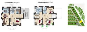 КП «Новая Романовка», планировка 5-комнатной квартиры, 249.50 м²