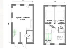 КП «Новая Ижора», планировка 3-комнатной квартиры, 103.70 м²