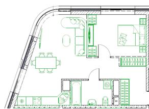 МФК «Monodom family», планировка 2-комнатной квартиры, 50.10 м²