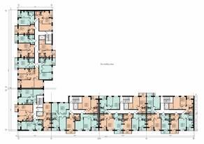 ЖК «Радченко», планировка 2-комнатной квартиры, 46.00 м²