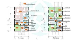 КП «Omakulma-Annino», планировка 5-комнатной квартиры, 173.22 м²