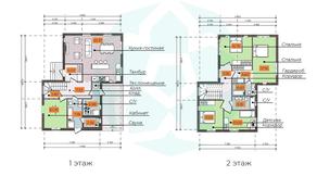 КП «Omakulma-Annino», планировка 5-комнатной квартиры, 173.54 м²