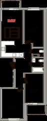 ЖК «Верхний», планировка 3-комнатной квартиры, 90.00 м²