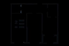 ЖК «Grand House», планировка 2-комнатной квартиры, 71.84 м²