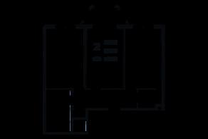 ЖК «Grand House», планировка 2-комнатной квартиры, 70.02 м²