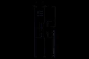ЖК «Grand House», планировка 3-комнатной квартиры, 109.04 м²