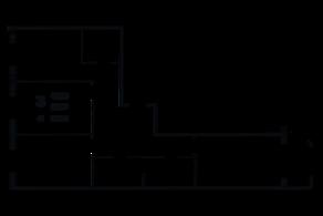 ЖК «Grand House», планировка 3-комнатной квартиры, 96.66 м²
