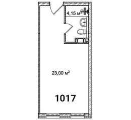 МФК «Avenue-Apart на Малом», планировка студии, 27.20 м²