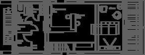 МЖК «Южная Долина», планировка квартиры со свободной планировкой, 155.60 м²
