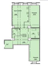 МЖК «Дворянское сословие», планировка 2-комнатной квартиры, 101.80 м²
