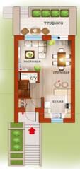 МЖК «Близкое», планировка 3-комнатной квартиры, 112.38 м²