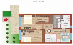 МЖК «Близкое», планировка 5-комнатной квартиры, 167.90 м²