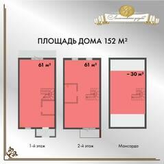 МЖК «Ломоносовская усадьба», планировка квартиры со свободной планировкой, 152.00 м²