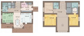 КП «ПриЛЕСный», планировка 4-комнатной квартиры, 174.10 м²