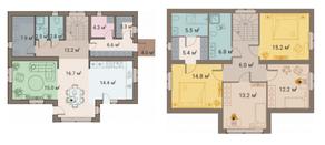 КП «ПриЛЕСный», планировка 5-комнатной квартиры, 224.30 м²