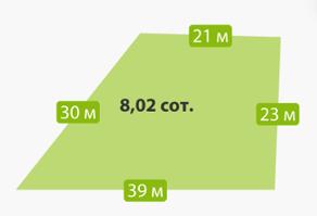 КП «Кокосы», планировка студии, 8.02 м²