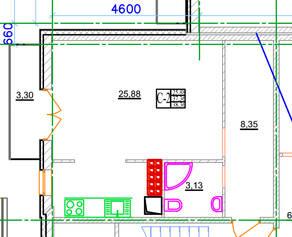 МЖК «Новое Рощино», планировка студии, 36.00 м²