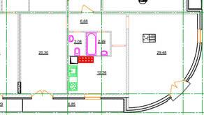 МЖК «Новое Рощино», планировка 2-комнатной квартиры, 71.90 м²