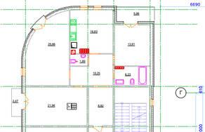 МЖК «Новое Рощино», планировка 3-комнатной квартиры, 99.30 м²
