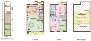 МЖК «Ломоносовская усадьба», планировка 4-комнатной квартиры, 141.40 м²