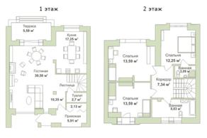 МФК «Яхонтовый лес», планировка 5-комнатной квартиры, 130.00 м²