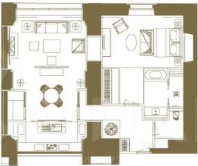 МФК «Царев сад», планировка 2-комнатной квартиры, 105.59 м²