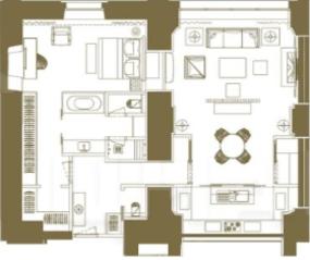 МФК «Царев сад», планировка 2-комнатной квартиры, 105.99 м²