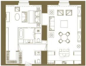 МФК «Царев сад», планировка 2-комнатной квартиры, 112.83 м²