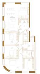 ЖК «Композиция №24», планировка 4-комнатной квартиры, 137.70 м²